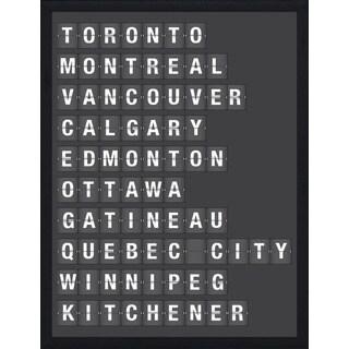 """""""Canadian Cities"""" Framed Plexiglass Wall Art"""