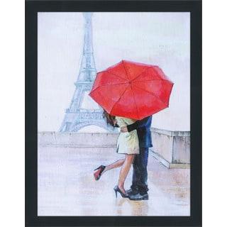 """Paris Romance"" Framed Plexiglass Wall Art"