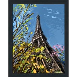 """Paris Blues"" Framed Plexiglass Wall Art"