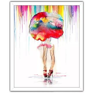 """Rainy Days"" Framed Plexiglass Wall Art"