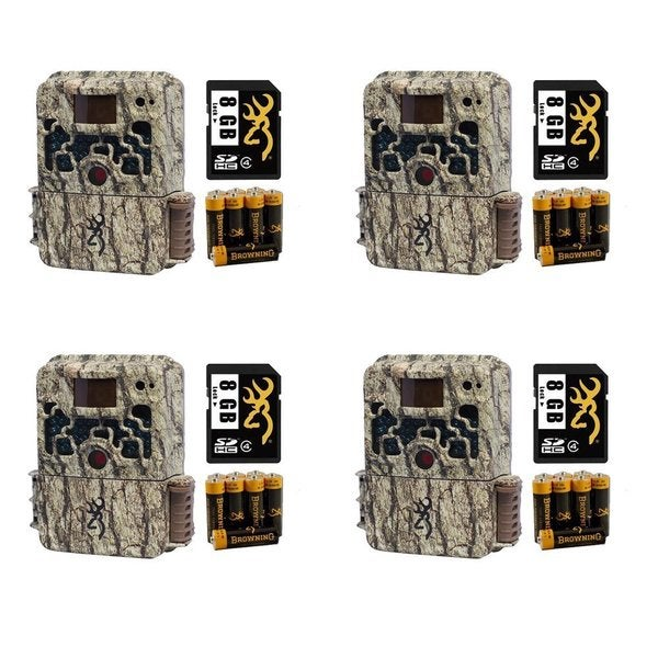 4- Browning BTC5 Strike Force HD 10MP Game Camera with 8GB SD Card & AA Batteries