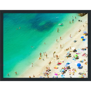 """Beach Please XI"" Framed Plexiglass Wall Art"