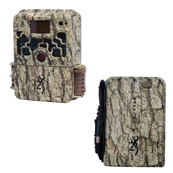 Browning Strike Force Trail Camera with Browning Trail Camera External Battery Pack