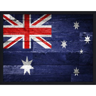 """Australia Flag"" Framed Plexiglass Wall Art"