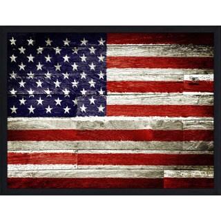 """USA"" Framed Plexiglass Wall Art"