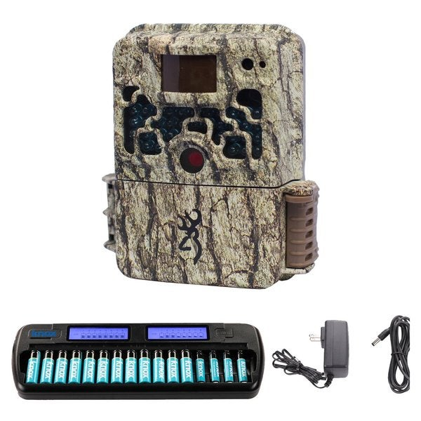 Browning Strike Force Trail Camera with Rechargeable Battery and Charger Bundle