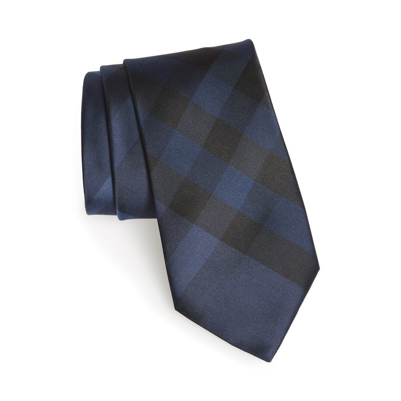 52be950eb269 Shop Burberry Blue Check Clinton Silk Neck Tie - Free Shipping Today -  Overstock - 13393114
