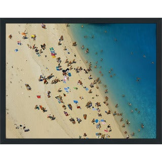 """Beach Please X"" Framed Plexiglass Wall Art"