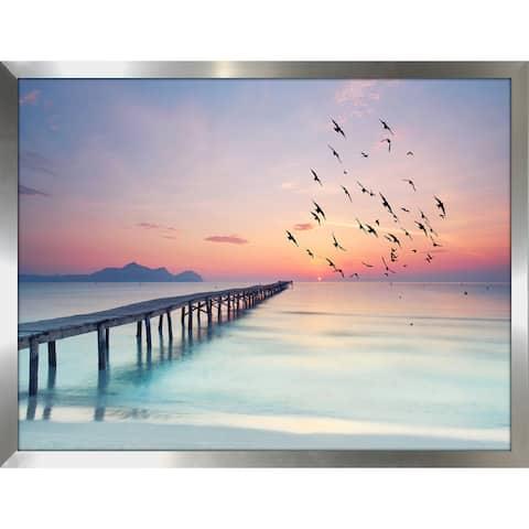 """Ocean Skies 2"" Framed Plexiglass Wall Art"