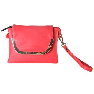 Diophy Faux Leather Wristlet Clutch Handbag