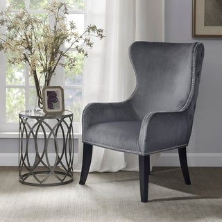 Madison Park Irvine Silver Button Tufted Back Accent Chair