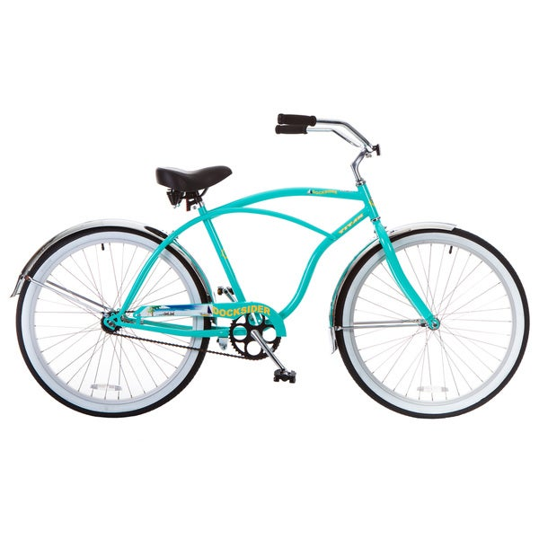 Docksider Men's Turquoise Beach Cruiser Bicycle (26 in.)