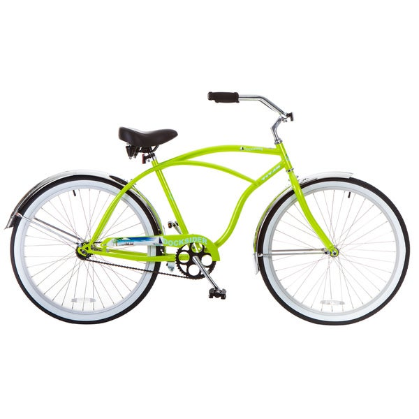 Docksider Men's Lime Green Beach Cruiser Bicycle (26 in.)