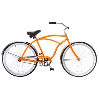 Docksider Orange Single-Speed Wheel Beach Cruiser Bicycle (26 in.)