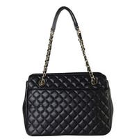 Rimen and Co. Faux Leather Large Quilted Tote Handbag