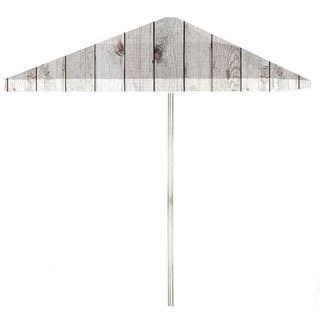 8-foot White Barn Wood Patio Square Umbrella by Best of Times