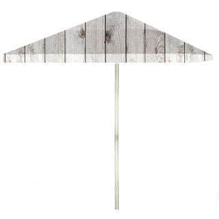 8-foot White Barn Wood Patio Umbrella by Best of Times