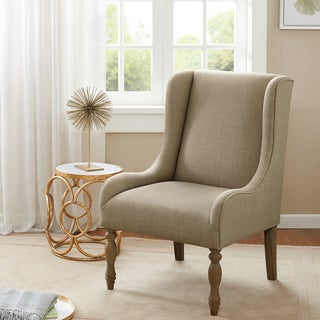 Madison Park Klaus Cream Turned Leg Wing Chair