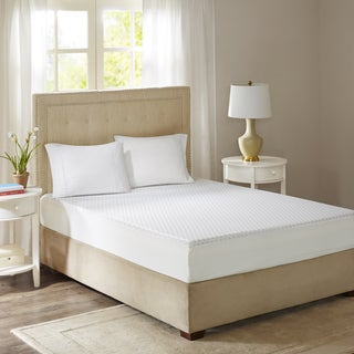 Flexapedic by Sleep Philosophy 10-Inch Gel Memory Foam Full White Mattress with Cooling Cover