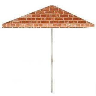 8-foot Boston Brick Patio Umbrella by Best of Times
