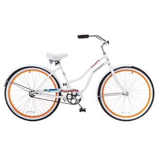 Docksider Women's White Beach Cruiser Bicycle (26 in.)