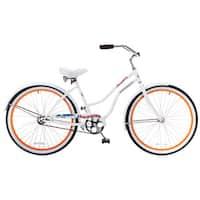 Docksider Women's White Beach Cruiser Bicycle (26 in.)