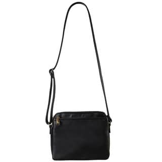 Diophy Front Zipper Pocket Crossbody Handbag