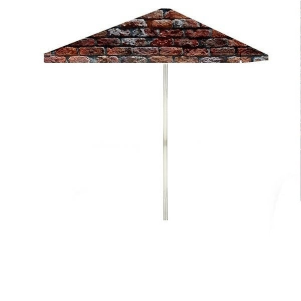 8-foot London Brick Patio Square Umbrella by Best of Times