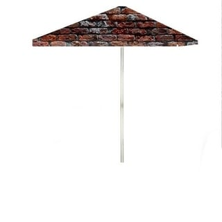 8-foot London Brick Patio Umbrella by Best of Times
