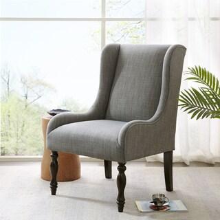 Madison Park Klaus Slate Turned Leg Wing Chair