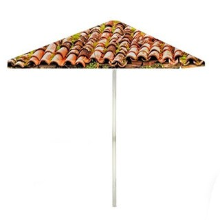 8-foot Italian Villa Patio Square Umbrella by Best of Times