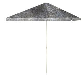 8-foot Grey Scrubbed Metal Patio Umbrella by Best of Times