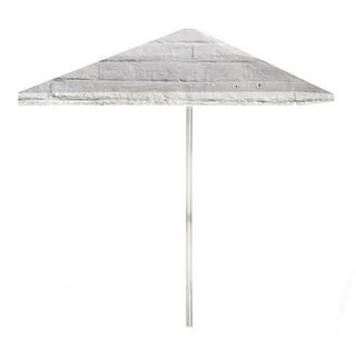 8-foot White Cinderblock Patio Umbrella by Best of Times
