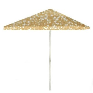 8-foot Glitter Me Gold Patio Umbrella by Best of Times
