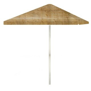 8-foot Corkboard Patio Square Umbrella by Best of Times