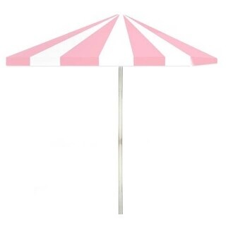 8-foot Ice Cream Parlour Patio Square Umbrella by Best of Times