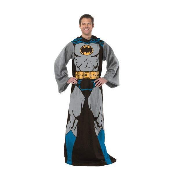 'Batman In Black' Plush Sleeved Fleece Throw