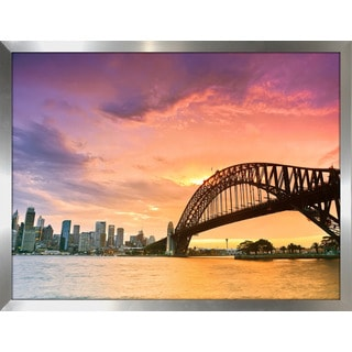 """""""Sydney"""" Framed Plexiglass Wall Art"""