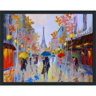 """Paris Stroll"" Framed Plexiglass Wall Art"
