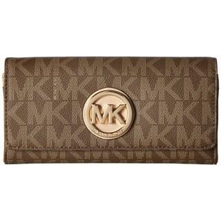 Michael Kors Fulton Logo Carryall Mocha Wallet