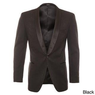 Ferrecci Men's Snakeskin Style Shawl Collar Tuxedo Blazer (More options available)