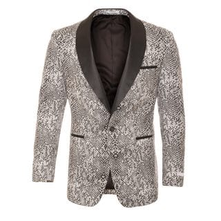 Ferrecci Men's Snakeskin Style Shawl Collar Tuxedo Blazer|https://ak1.ostkcdn.com/images/products/13393497/P20090506.jpg?impolicy=medium