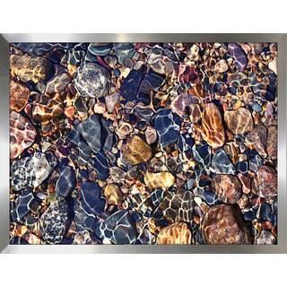 """Water Stones 9"" Framed Plexiglass Wall Art"