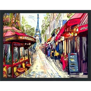 """Paris by Day"" Framed Plexiglass Wall Art"