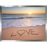 """LOVE"" Framed Plexiglass Wall Art"