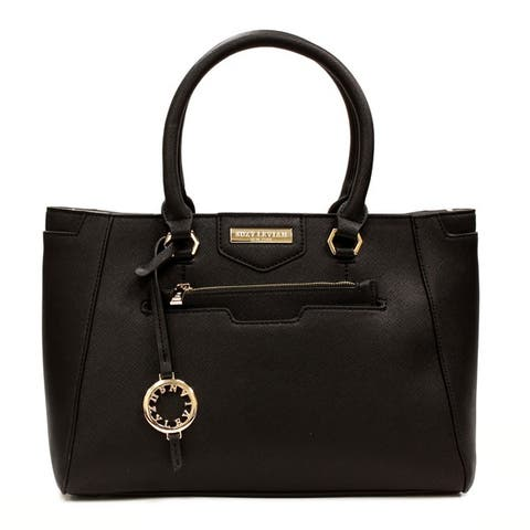 Suzy L. Saffiano Faux Leather Satchel Handbag
