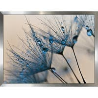 """Flower Water Droplets 2"" Framed Plexiglass Wall Art"