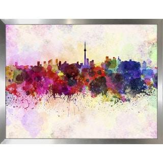 """Toronto"" Framed Plexiglass Wall Art"