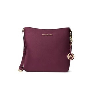 Michael Kors Jet Set Travel Plum Large Crossbody Handbag