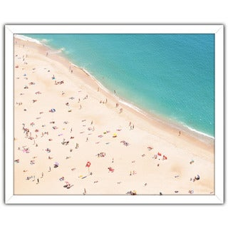 """Beach Please V"" Framed Plexiglass Wall Art"